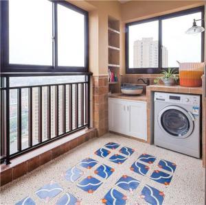 阳台改造效果图洗衣池