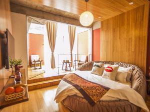 地台卧室圆床榻榻米