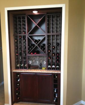 家用红酒柜实景图