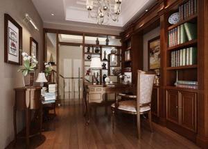 别墅古典中式书柜