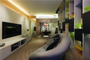15平方客厅现代简约电视