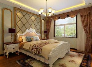 中式古典儿童房窗帘效果图