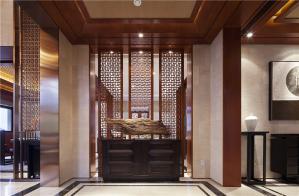 别墅中式玄关装修效果图