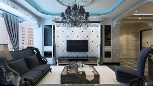 欧式简单大气的电视背景墙