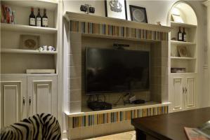 电视柜酒柜一体简欧卧室背景墙