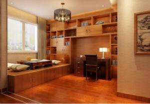 中式风格榻榻米书房装修效