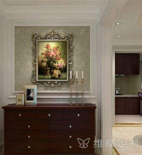 美式玄关装修效果图背景墙搭配
