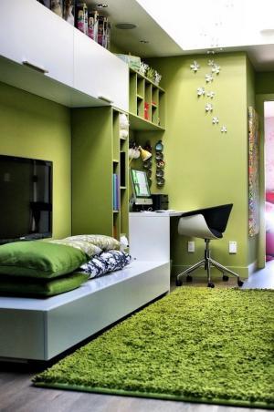 绿色田园儿童书房装修设计