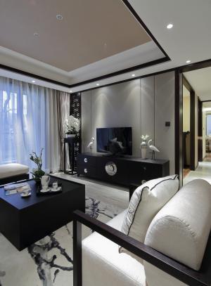 青花瓷中式电视背景墙