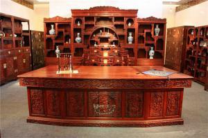 雕花复古新中式书柜