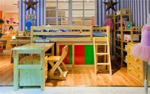 儿童上下床带书桌