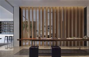 餐桌中式背景墙