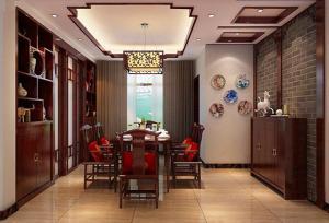 中式现代家装酒柜效果图