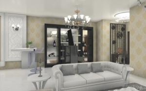 现代客厅酒柜