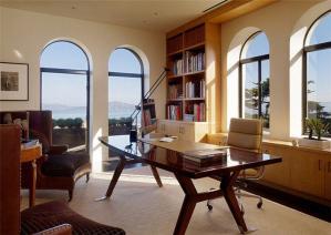 别墅现代简欧书房装修效果