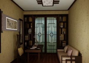 传统复古中式书房装修效果