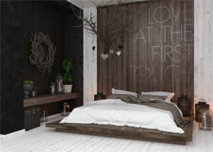小户型家装样板间榻榻米床