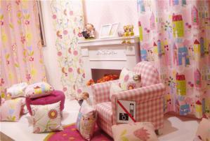 壁炉设计儿童房墙纸效果图