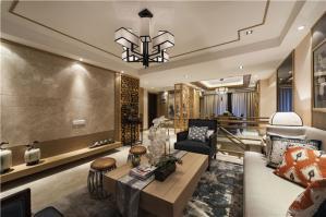 中式复式好看的客厅背景墙
