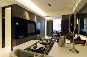 黑白现代家装沙发背景墙