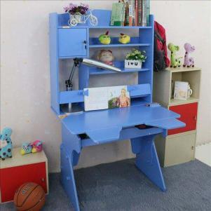 儿童蓝色可升降学习桌