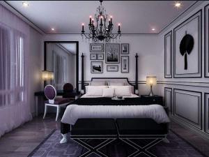 新古典风格卧室背景墙