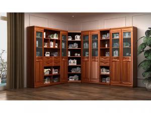 转角艺术新中式书柜