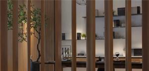 中式背景墙隔断设计