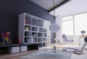 现代创意客厅书柜