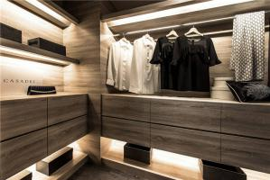豪华开放式整体衣柜