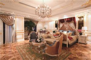 别墅奢侈欧式榻榻米床装修效果图
