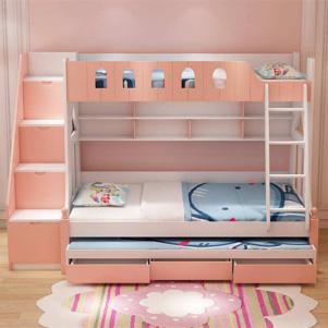 女孩卧室卧室高低床装修效