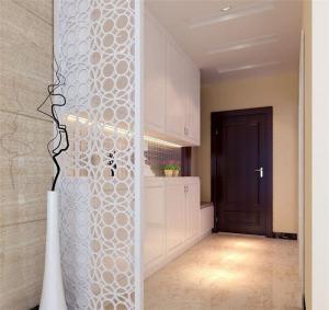 白色现代玄关吊顶装修效果图