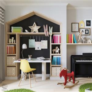 小户型家居儿童书房设计
