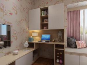 二居室卧室整体书柜