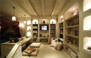 复式整体书柜