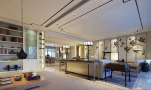 中式豪华客厅电视墙效果图