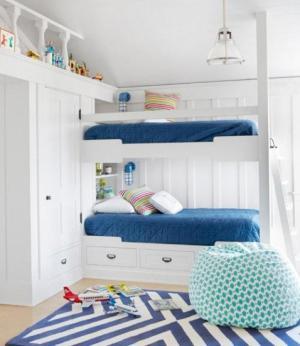 地中海儿童房卧室二层床