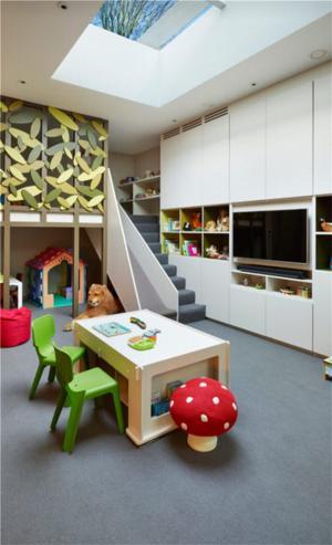 儿童房墙纸效果图游乐房