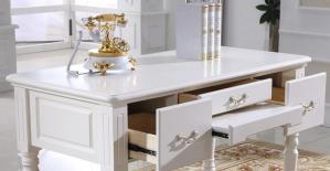 欧式书桌组合白色