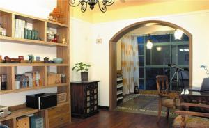小户型客厅书柜