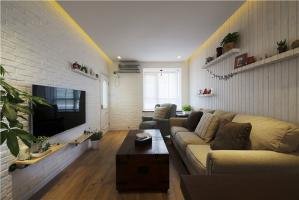 客厅小户型家庭装修实景图