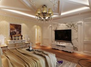 欧式风格别墅精装卧室电视
