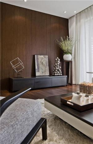 现代风格电视背景墙电视柜