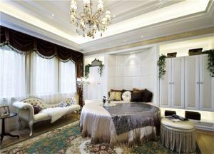 主卧设计圆形床卧室效果图