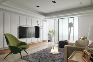 公寓简单大气的电视背景墙