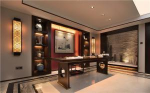 中式书房定制酒柜效果图