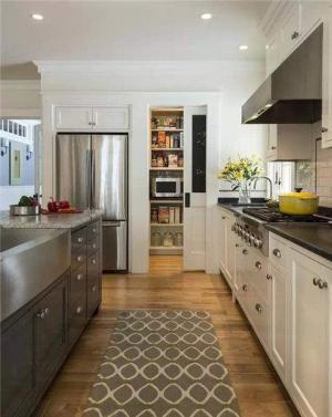 开放式厨房隐形门储物室