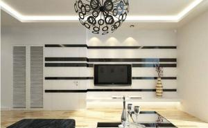 欧式客厅家装隐形门设计