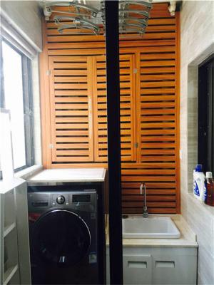 洗衣机放阳台效果图下水